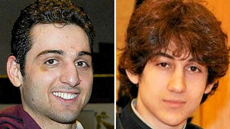 Brothers in arms ... Tamerlan Tsarnaev, 26, left, and Dzhokhar Tsarnaev, 19.