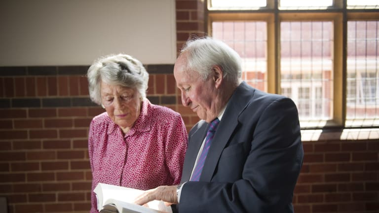 Pamela Yonge (sister of Pete, Jack, and Tom Eddison) with author of 'For love of country', Anthony Hill.