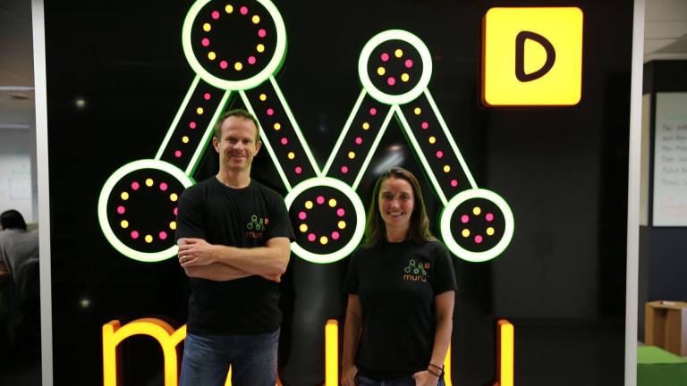 muru-D entrepreneur in residence Mick Liubinskas and co-founder Annie Parker.