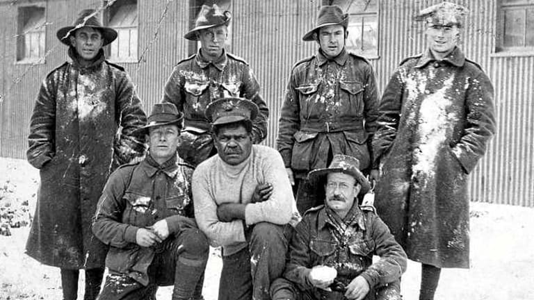 Black and white Australians served together in WWI.
