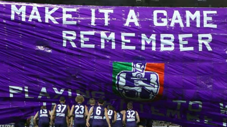 Fremantle failed to honour its banner during Friday's heavy loss.