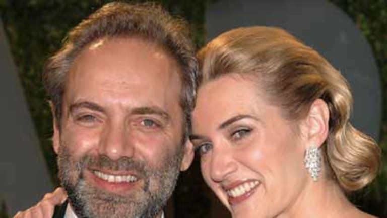 Split ... Kate Winslet and husband director Sam Mendes in February 2009.