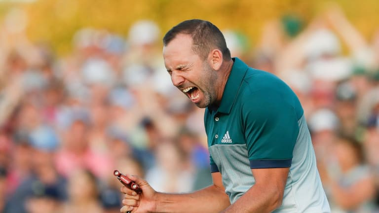Green machine: Sergio Garcia wins the Masters. It was hard to think of a touring professional who deserved the breakthrough more than the Spaniard.