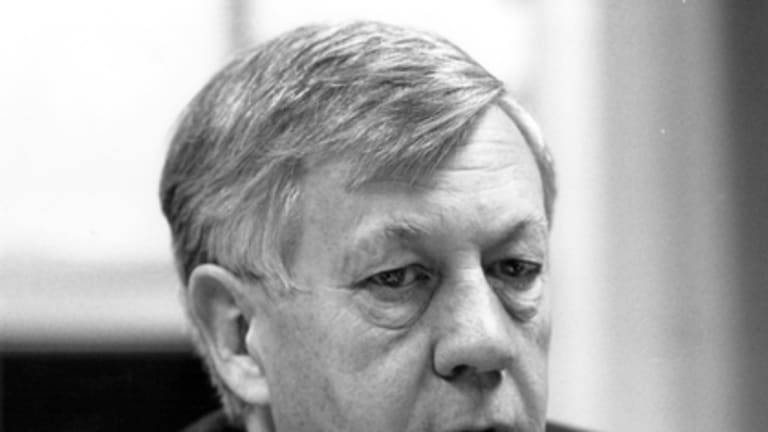 Sir Edward Woodward in 1990.
