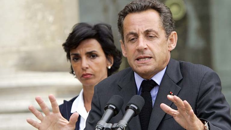 Rachida Dati allegedly had a relationship with  Nicolas Sarkozy's brother.