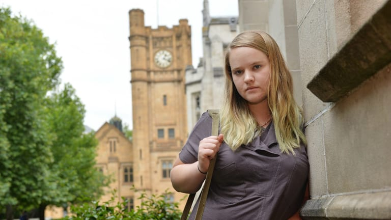 Melbourne uni student Akira Boardman may need to study part time and work due to a centrelink cut off.
