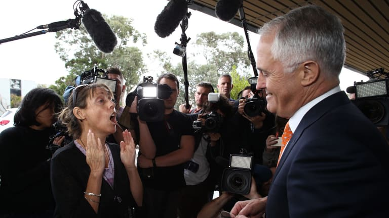 Single mother of two Melinda (second name withheld) confronted Prime Minister Malcolm Turnbull on family tax benefits.