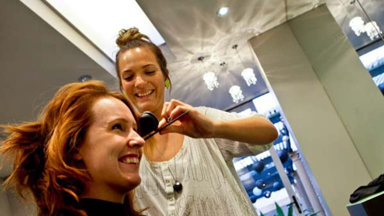 Cut out for the job . . . Danae Selwood's life took a turn for the better when she started her hairdressing apprenticeship.