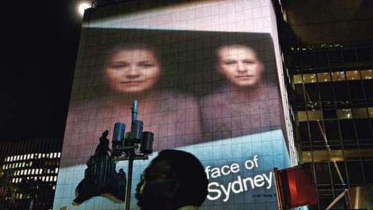 The 2006 Faces of Sydney based on an art project commissioned by the City of Sydney.