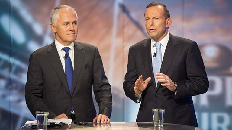 Malcolm Turnbull and Tony Abbott.