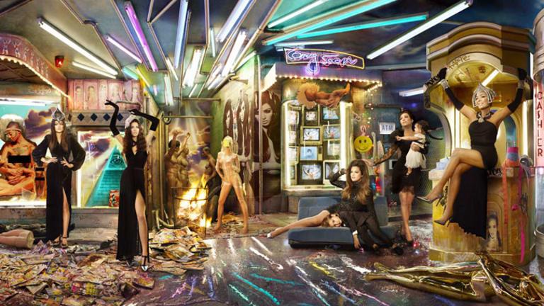 "This year's Kardashian Christmas card. <b><a href=""http://images.smh.com.au/2013/12/10/4995159/kardashian-xmas.jpg"">View a larger version here</a>.</b>"