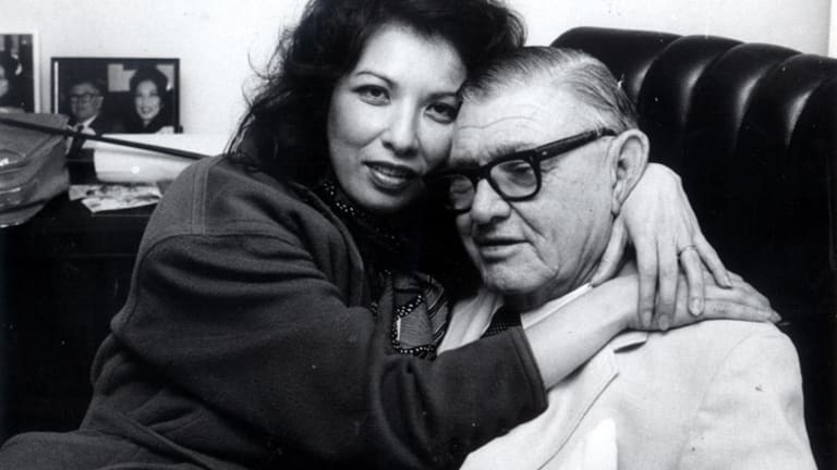 Rose Porteous with mining magnate Lang Hancock.
