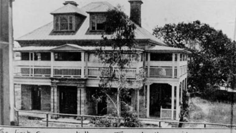 Adelaide House, Queensland's first Government House, where the then new colony was announced.