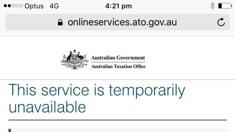 Outage notices from the ATO last week.