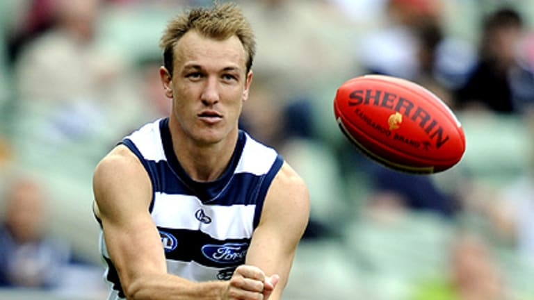 """Darren Milburn is """"very, very good at delivering feedback"""", according to Geelong coach Mark Thompson."""