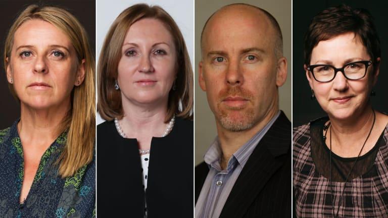 Kate Geraghty, Adele Ferguson, Michael Bachelard and Cathy Wilcox.