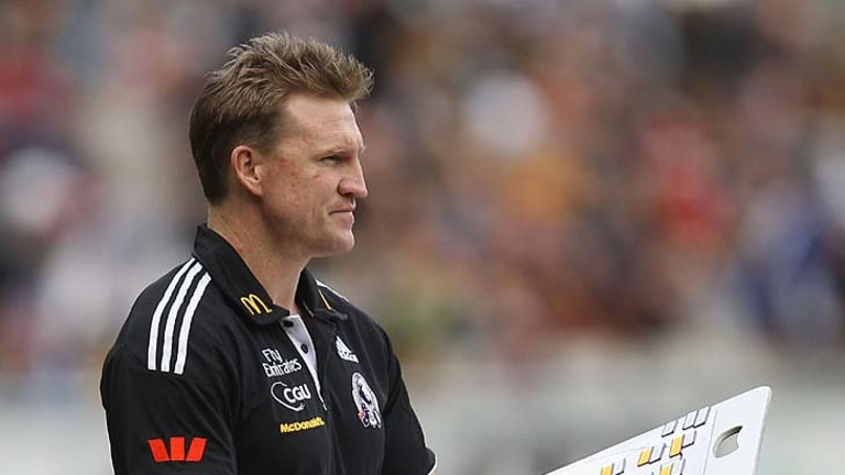 Magpies assistant coach Nathan Buckley.