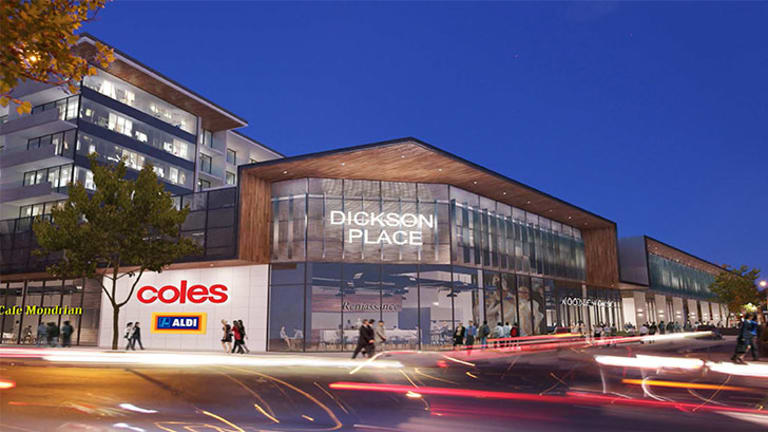An artists' impression of the new commercial and residential precinct in Dickson.