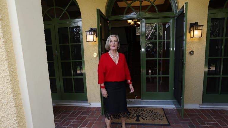 Lucy Turnbull begins the tour of the Lodge.
