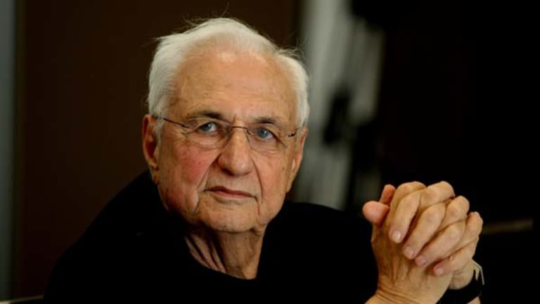 Architect Frank Gehry, pictured yesterday.
