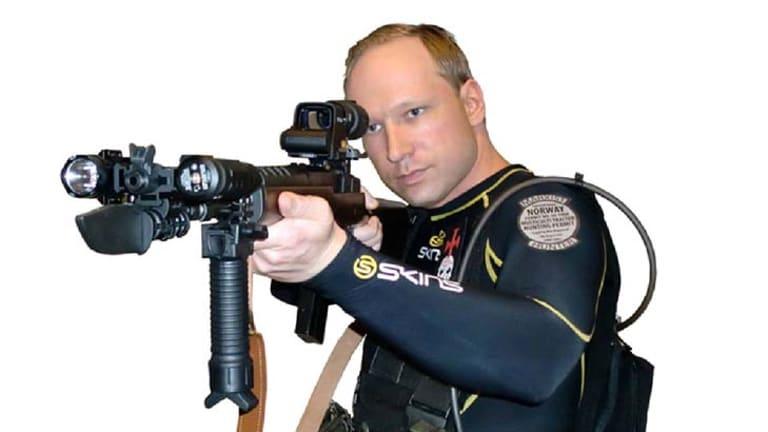 Rampage ... Anders Behring Breivik in costumes.