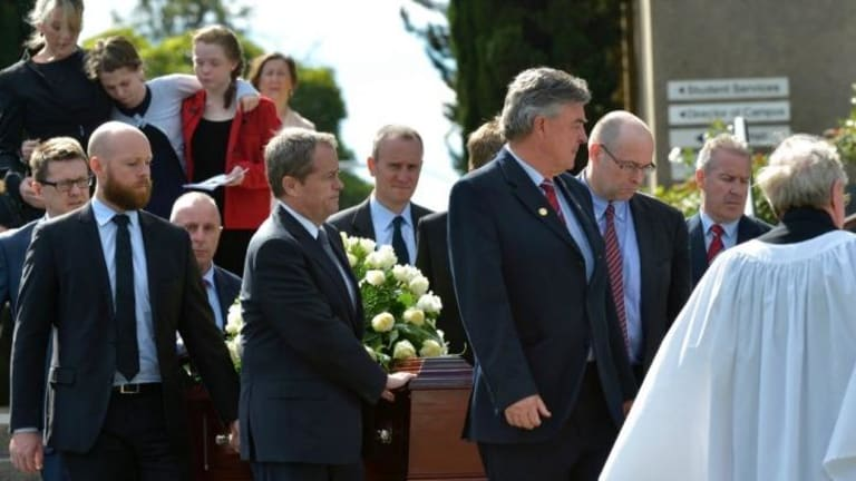 Opposition Leader Bill Shorten and his brother were among the pallbearers at his mother Ann's funeral.