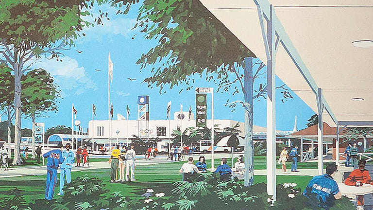 An artist's impression of the Athletes' Village had Brisbane won its bid for the 1992 Olympic Games.