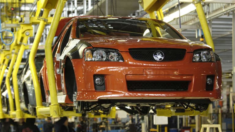 A Holden VE Commodore rolls off the production line in Adelaide.