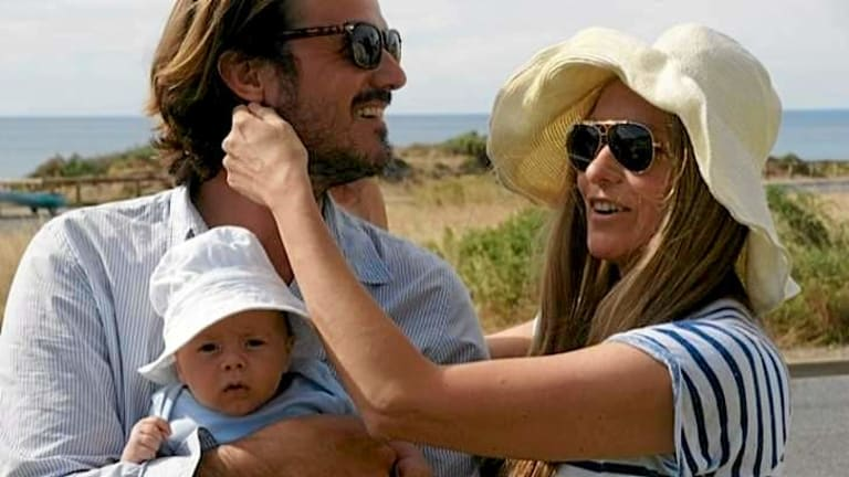 """""""I have sacrificed a lot of family time...now I want balance back in my life"""": Collette Dinnigan with husband Bradley Cocks and their son, Hunter."""
