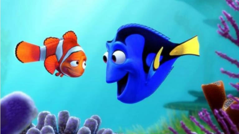 One more time: Marlin and Dory reunite for the  sequel <i>Finding Dory</i> .