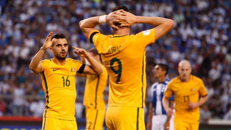 Close call: Frustrated Socceroos after a 0-0 World Cup qualifying draw against Honduras in San Pedro Sula.