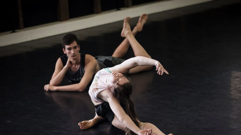 Students of Sydney Dance Company's pre-professional year course at work in its studios.
