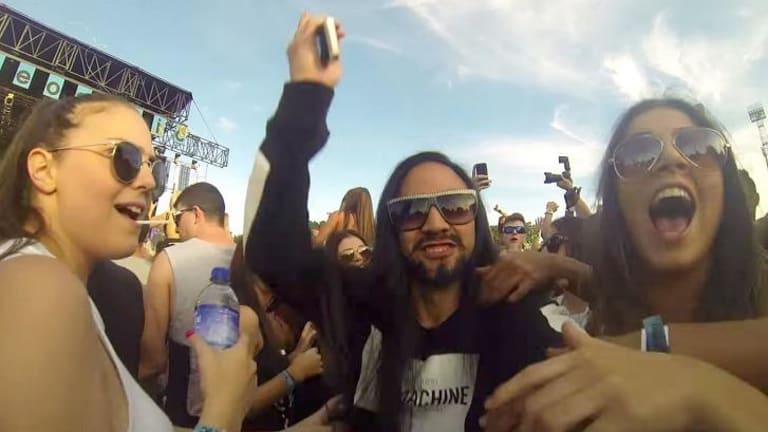 Alter ego: Photographer Jarrad Seng poses as DJ Steve Aoki, sending fans wild.
