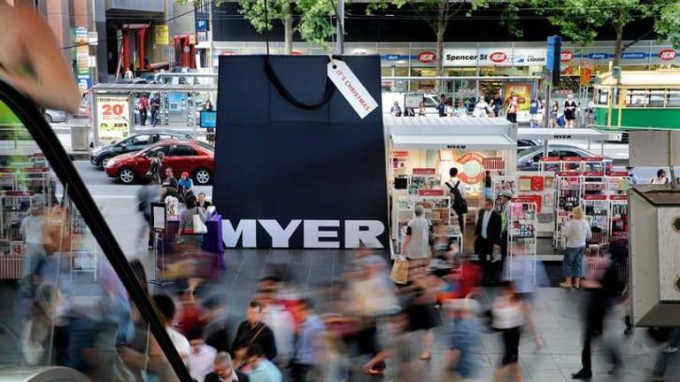 A Myer pop-up shop at Southern Cross station.