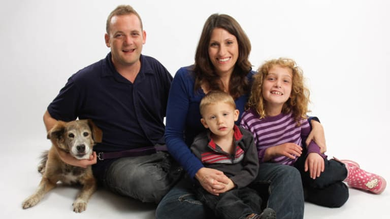 Keeping it together … the Schofield family in 2011.
