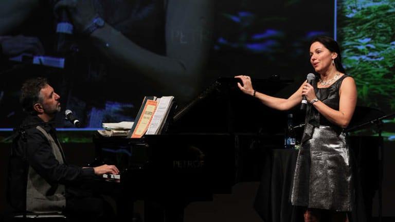 Task team: Pianist/composer Joe Chindamo and soprano Tania de Jong.