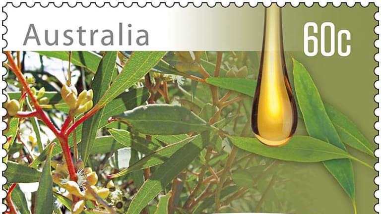 Bush fresh ... the eucalyptus-infused stamp.