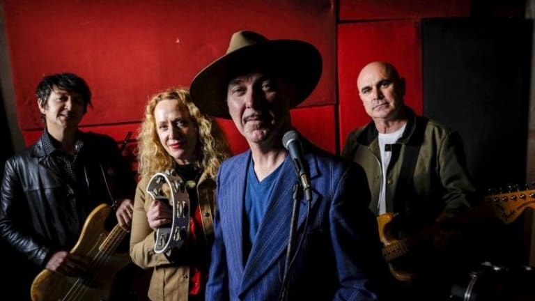 Coral Snakes, from left, Stu Thomas, Clare Moore, Dave Graney and Rod Hayward,  Absent is keyboard player Robin Casinader.
