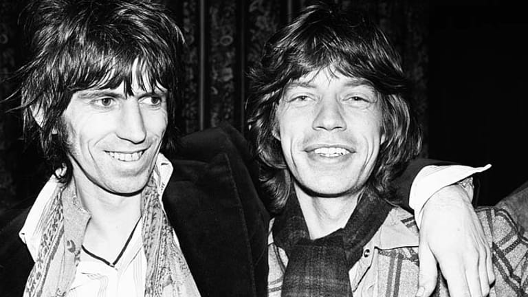 Mick Jagger with Keith Richards in the '70s.