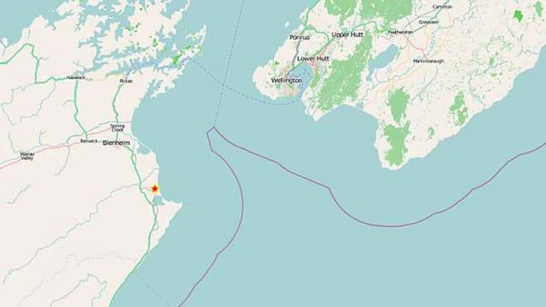 A preliminary GeoNet map of the 6.2 earthquake that hit near Seddon.