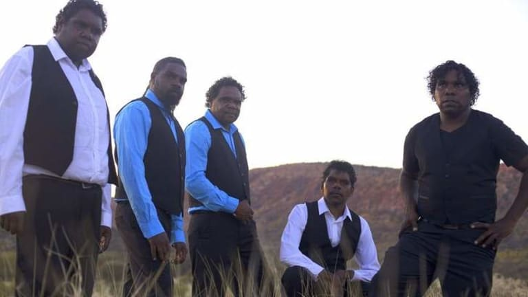 The Tjintu Desert Band will play Canberra on July 20.