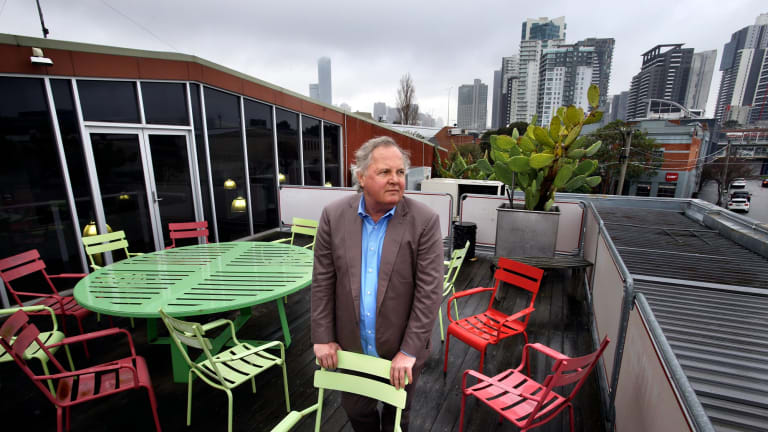 Pitzy Folk at his office and warehouse in Buckhurst Street South Melbourne where the area has been earmarked as a park.
