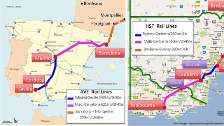 High speed rail is the answer to many transport problems.