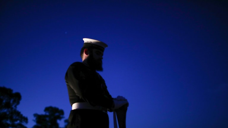 ANZAC Day dawn service at the Australian War Memorial in Canberra.