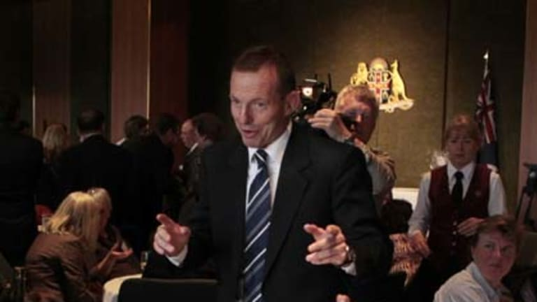 Opposition leader Tony Abbott has stumbled on the details of his broadband policy.