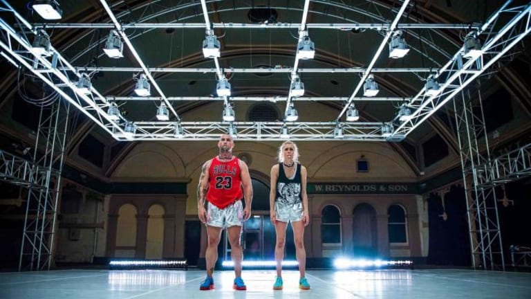 Beasty and the beast: Dancer choreographer Natalie Abbott and body builder Donny Henderson-Smith in Maximum, coming to Performance Space: Score, August 2014.