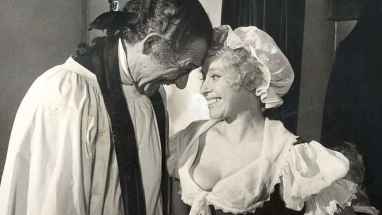 Once upon a time, even the Carry On films were too much for some sensibilities ... troupe members Sid James and Barbara Windsor circa 1975.