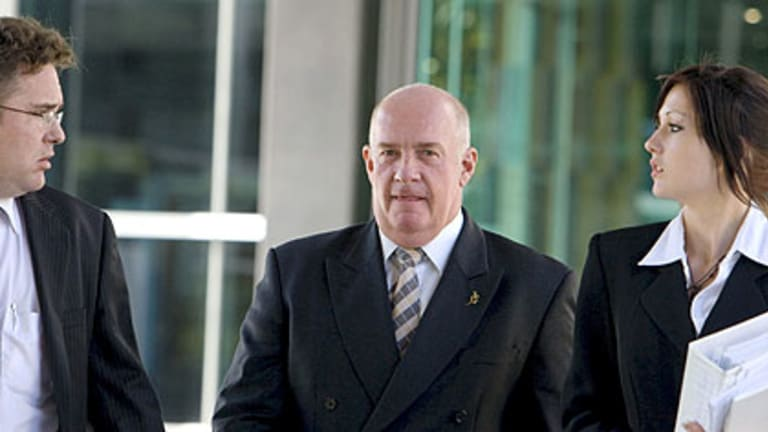 Gordon Nuttall outside the Brisbane Magistrates Court in 2008.