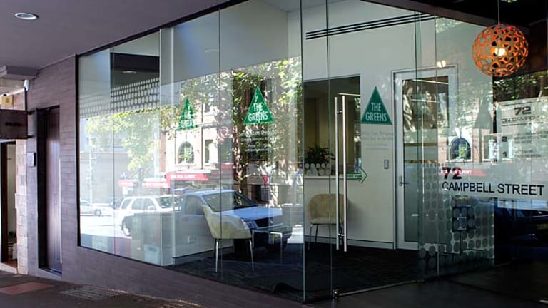 Electoral office: Lee Rhiannon's workplace in the heart of Surry Hills.