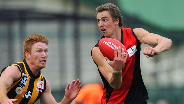 Essendon's Joe Daniher during his dominant phase for the Bombers in the VFL.